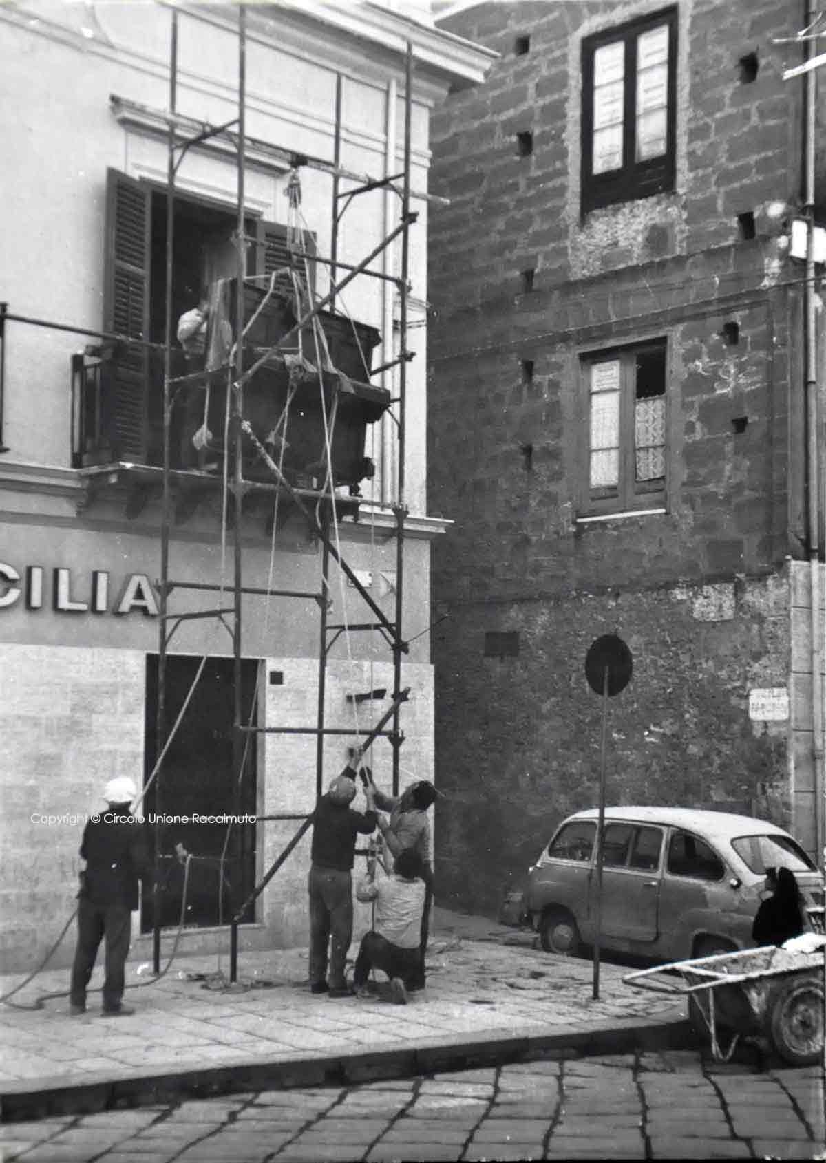 Collocazione Pianoforte, mattina del 14 Maggio 1966