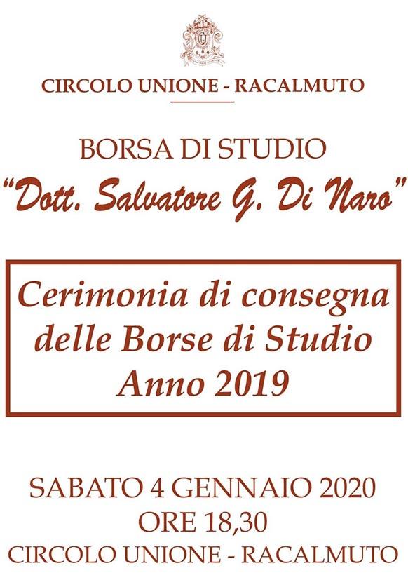 Borsa di Studio Dott. Salvatore Giovanni Di Naro