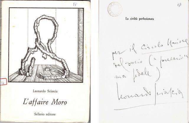 Copertina libro L'affaire Moro dedica Leonardo Sciascia